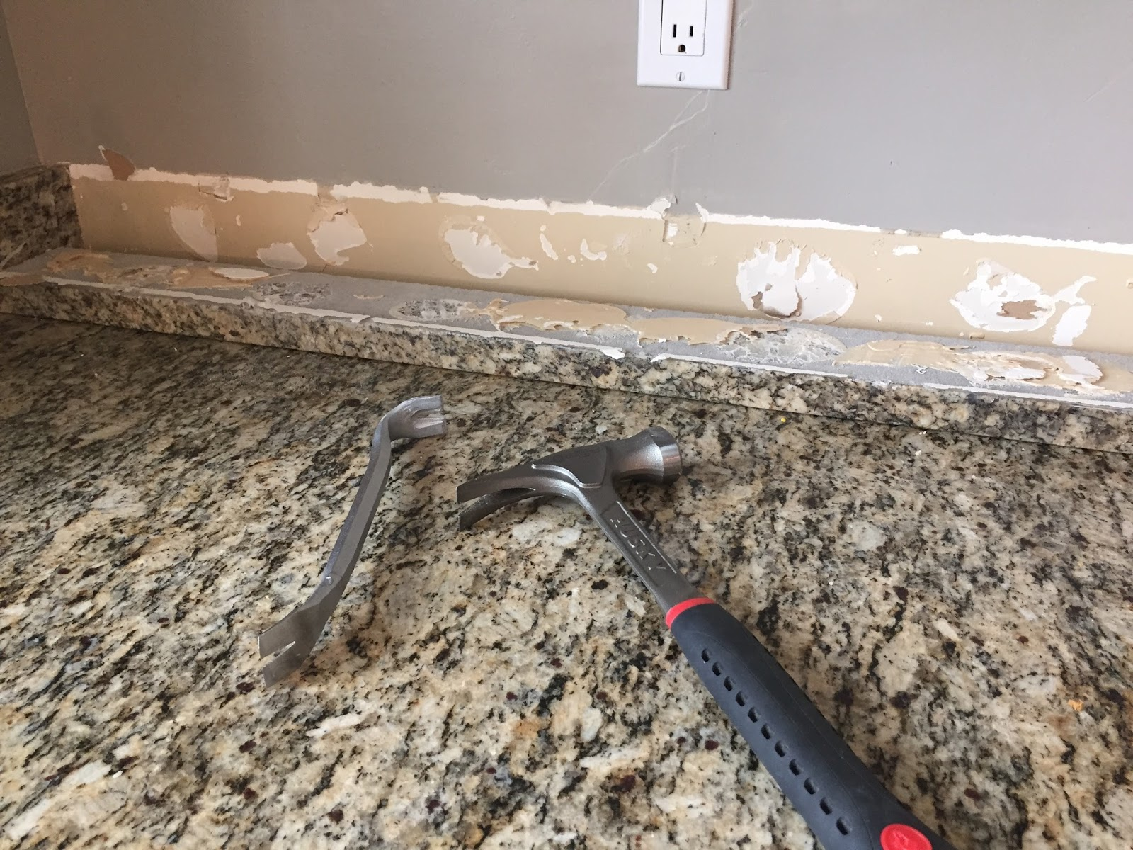 next i removed all the electrical plates and put them aside because the veneers are about 14 12 inch thick i had to add extenders to the outlets - Removing Tile Backsplash