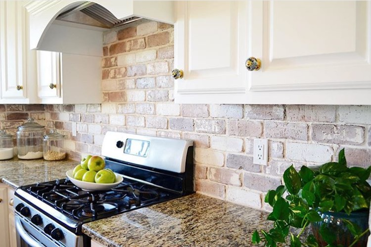 Do-It-Yourself Brick Veneer Backsplash