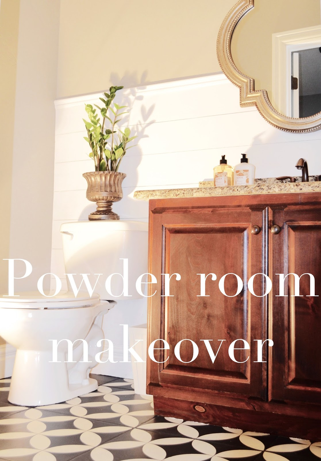 Powder Room Makeover powder room makeover - remington avenue