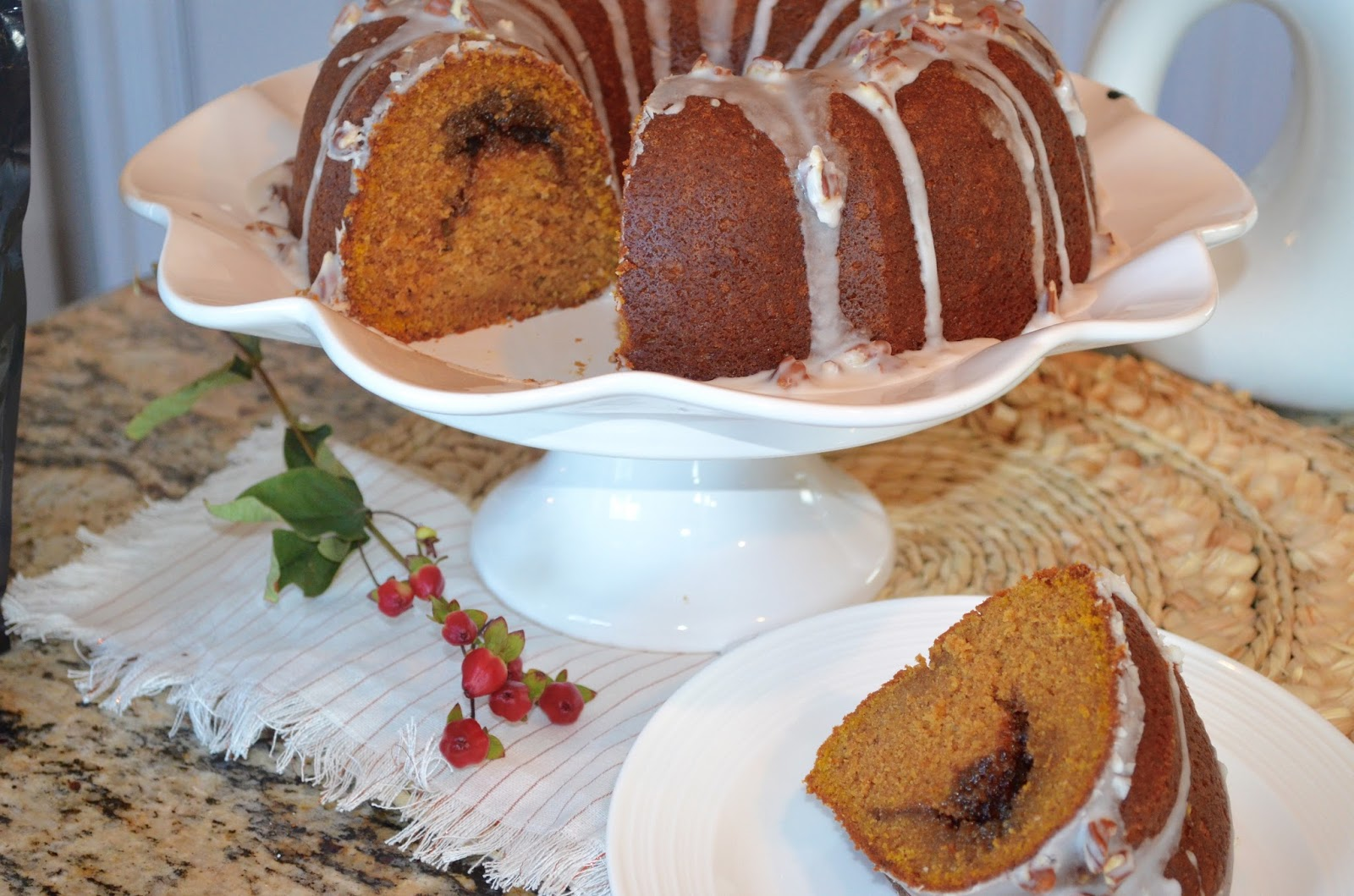 Pumpkin Bundt Cake with Brown Sugar Streusel