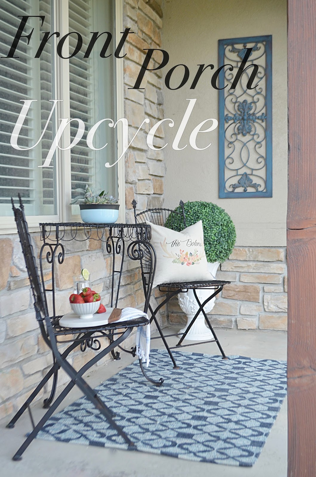 upcycle, patio, patio furniture, outdoor decor