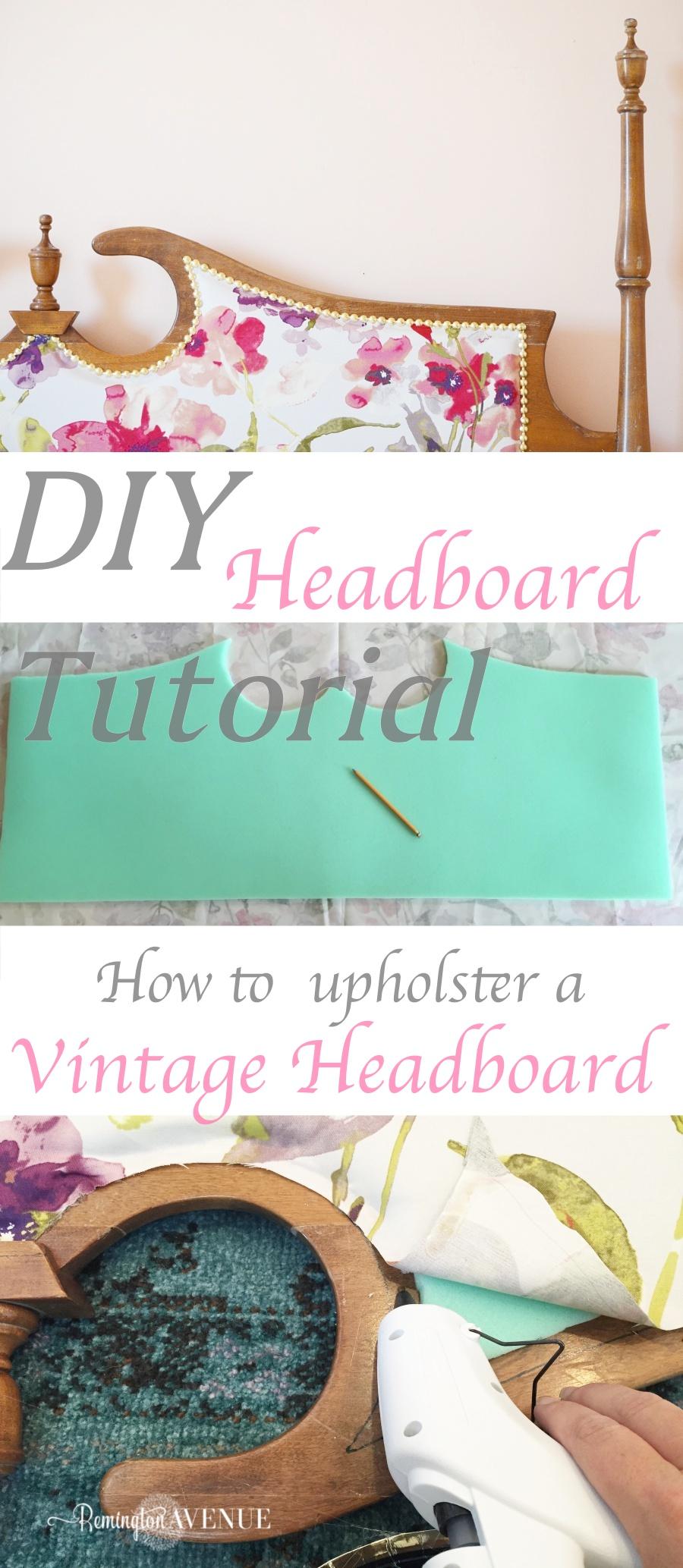 DIY upholstered vintage headboard