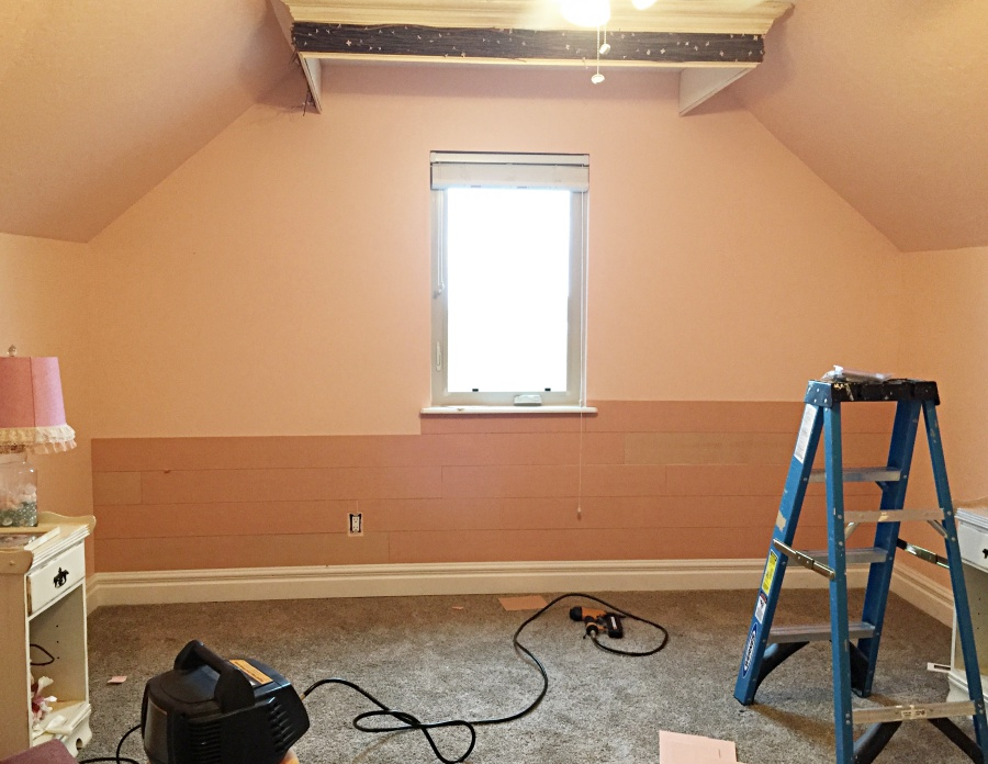 faux shiplap progress 2