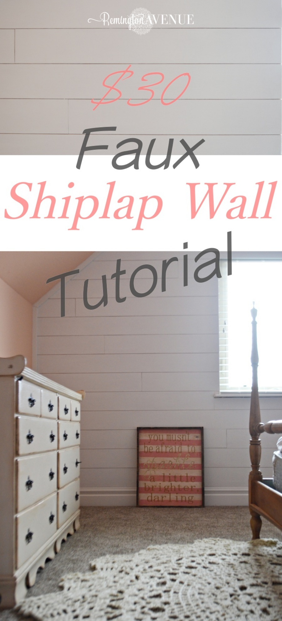 faux shiplap wall tutorial
