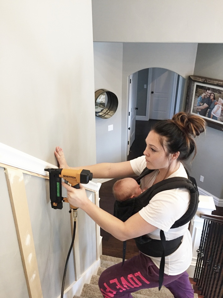 how to install staircase molding