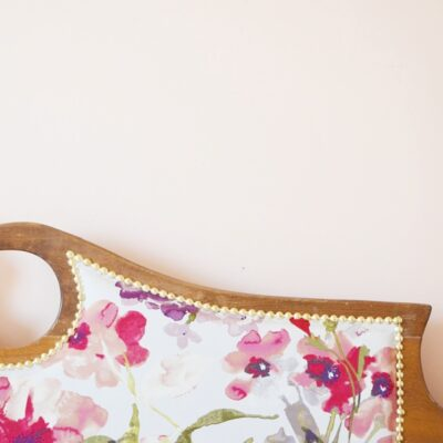 upholstered vintage Headboard tutorial