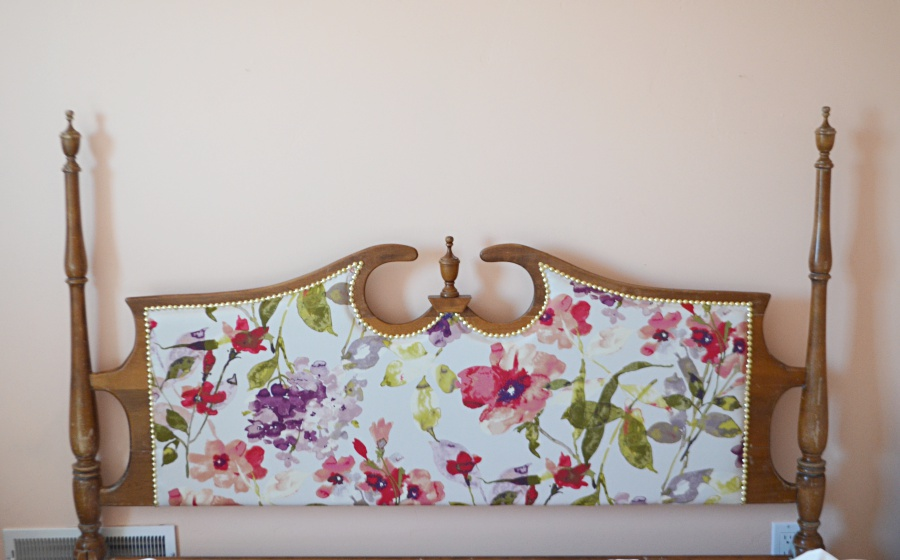 vintage upholstered headboard 1