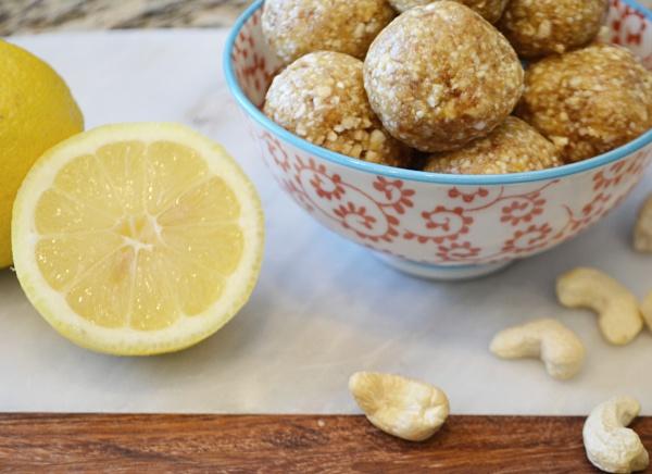 lemon fruit bites - gluten free, sugar free, dairy free