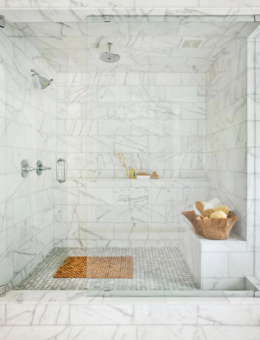Master bathroom tile designs - Shower Door