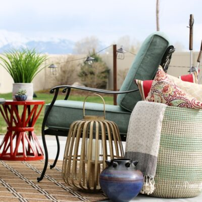 Spring Patio Makeover with Home Depot
