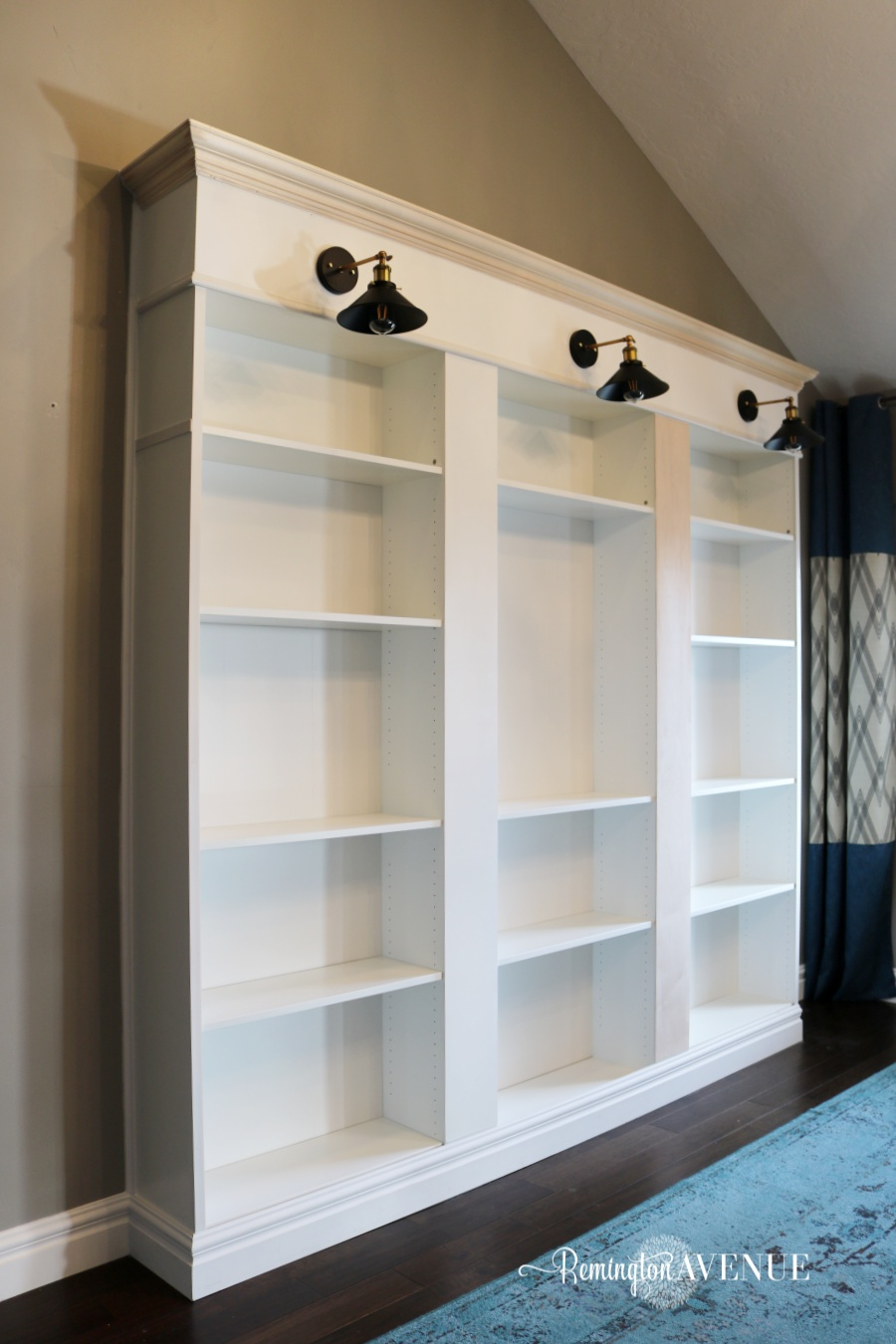 How To Build A Whole Wall Bookcase