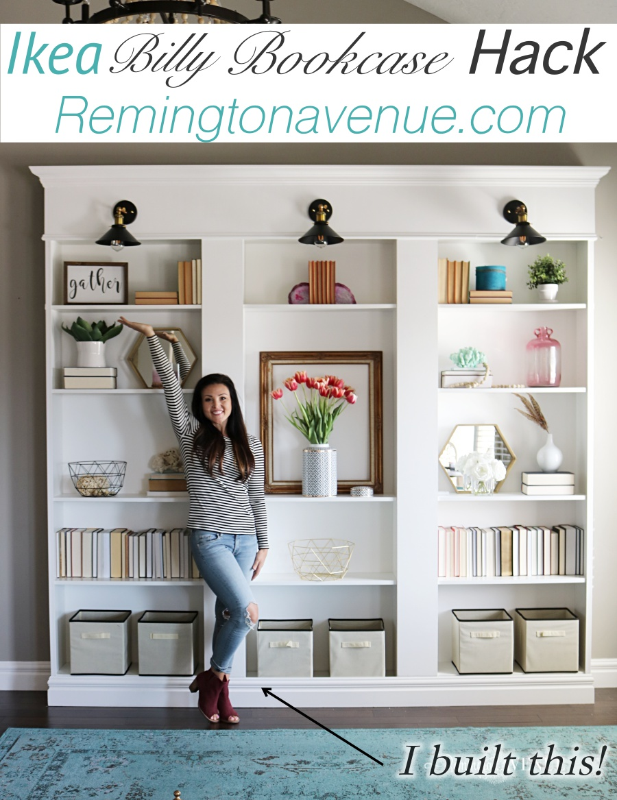 Ikea Billy Bookcase Library Hack - Remington Avenue