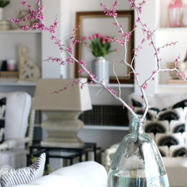 Bright White with a Pop of Color Living Room Reveal