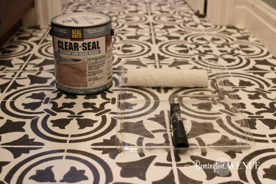 How to paint and stencil tile - sealer
