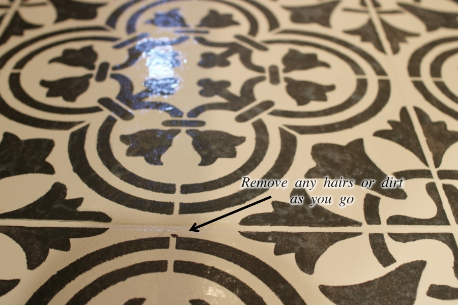 How to paint and stencil tile