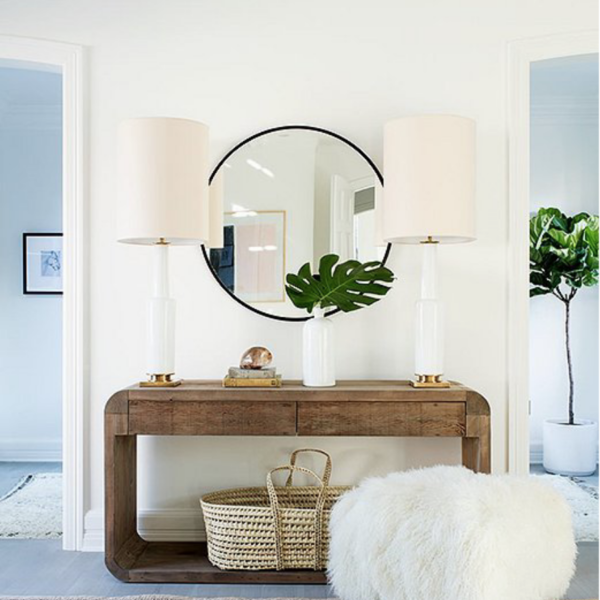 Entryway Design Plans & Console Table Round Up
