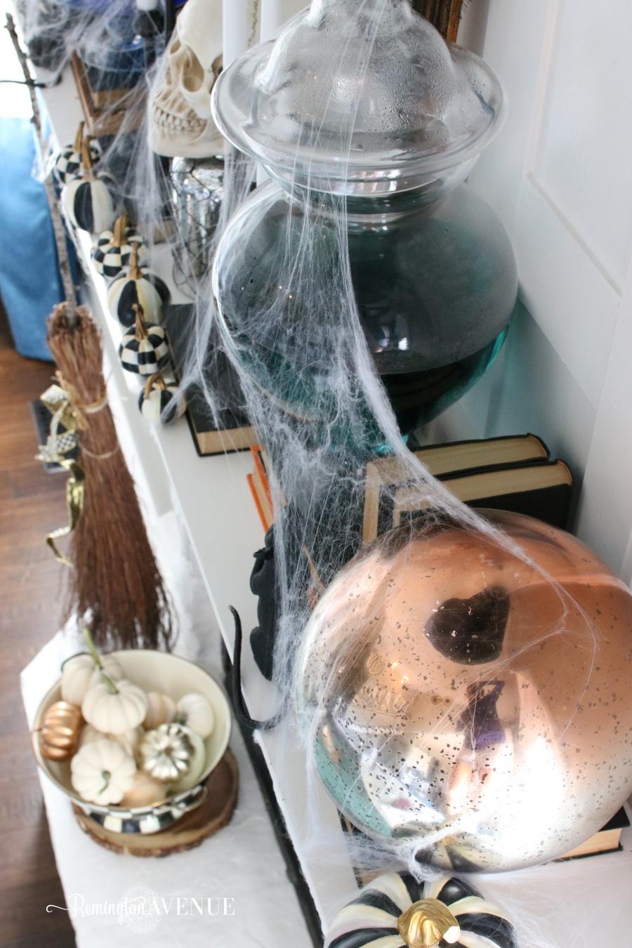 scary halloween food names black u0026 white spooky halloween mantel remington avenue - Halloween Punch Names