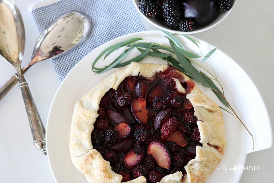 plum, blackberry rustic tart - fall recipes
