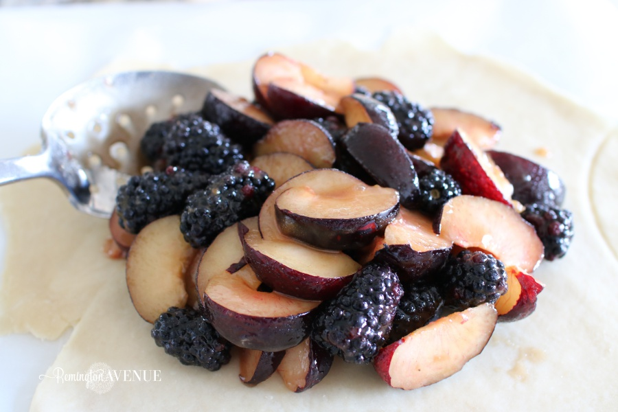 plum, blackberry rustic tart- fall recipes/ desserts
