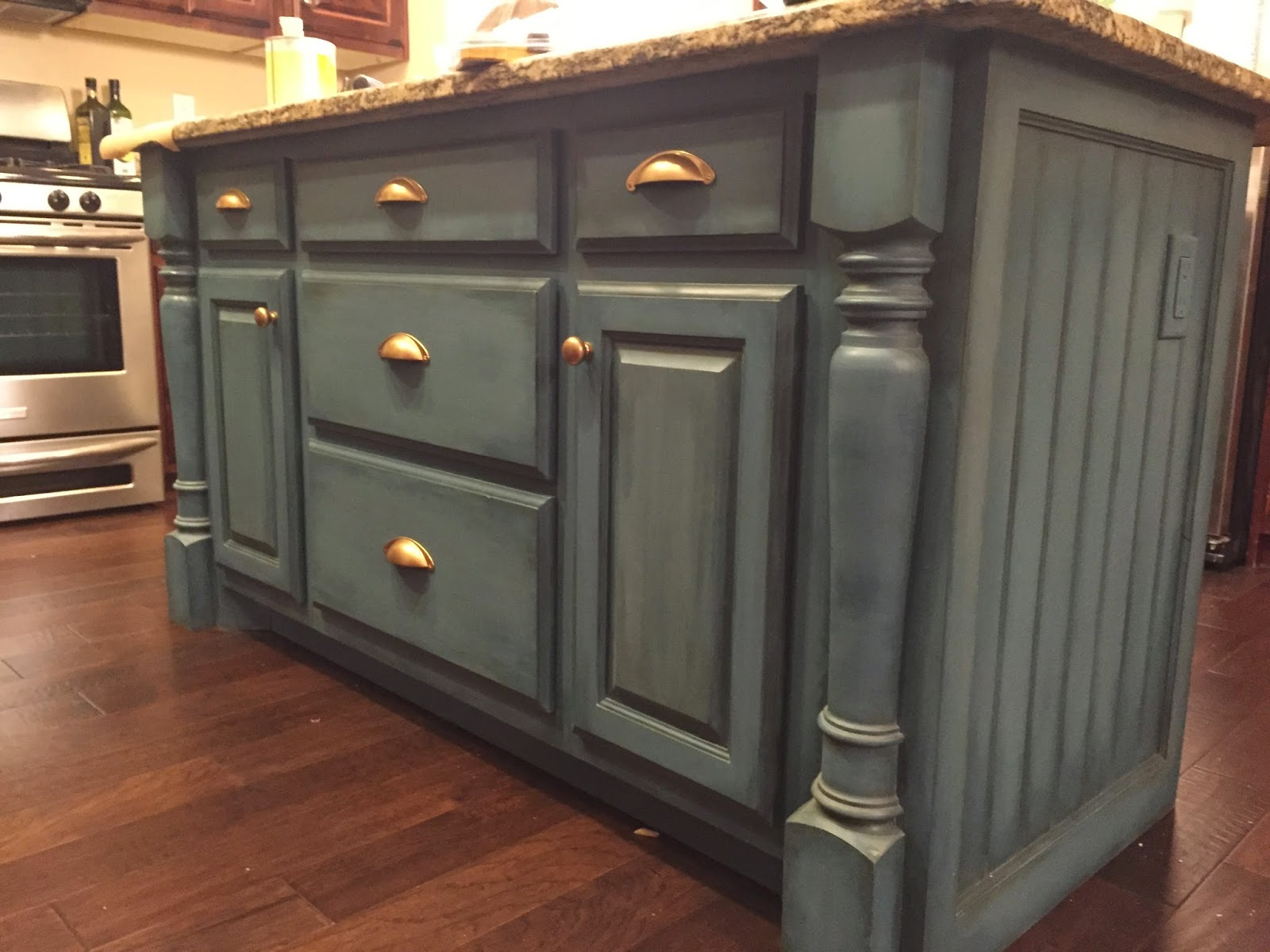 Do it yourself kitchen island remington avenue after all this is to be my kitchen not everyone elses introducing aubusson blue by annie sloan thats right chalk paint in my kitchen solutioingenieria Images