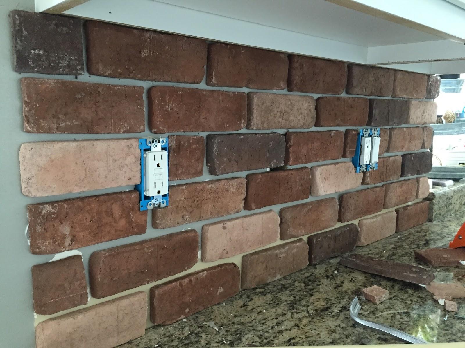 DoItYourself Brick Veneer Backsplash Remington Avenue - Aged brick veneer