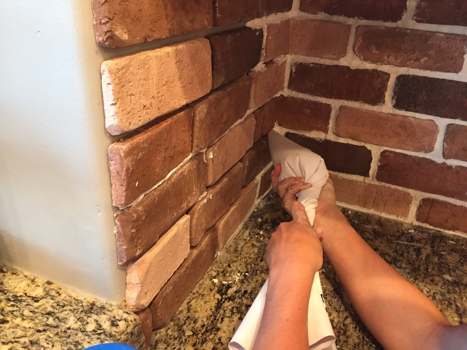 Do it yourself brick veneer backsplash remington avenue for What is brick veneer house