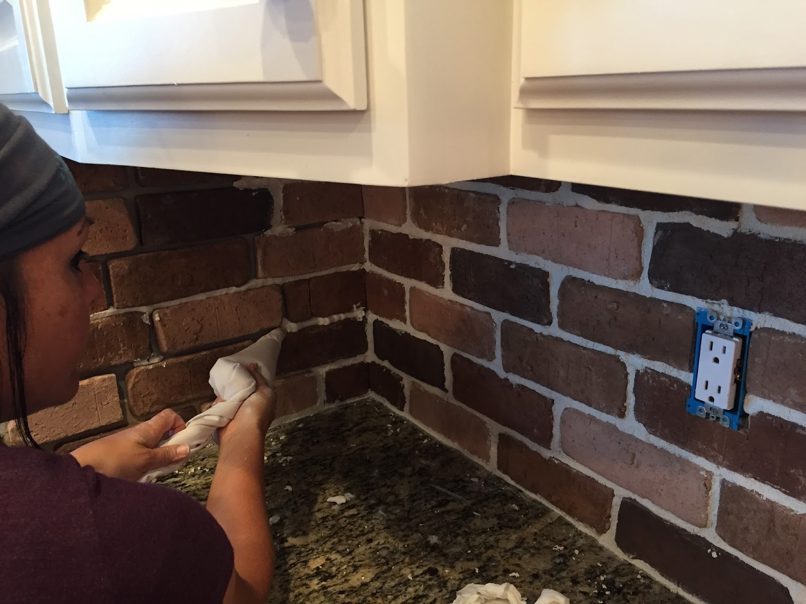 Design Red Brick Backsplash do it yourself brick veneer backsplash remington avenue at this point some of you could be done with your the intensity red bricks see here doesnt work in my space but co