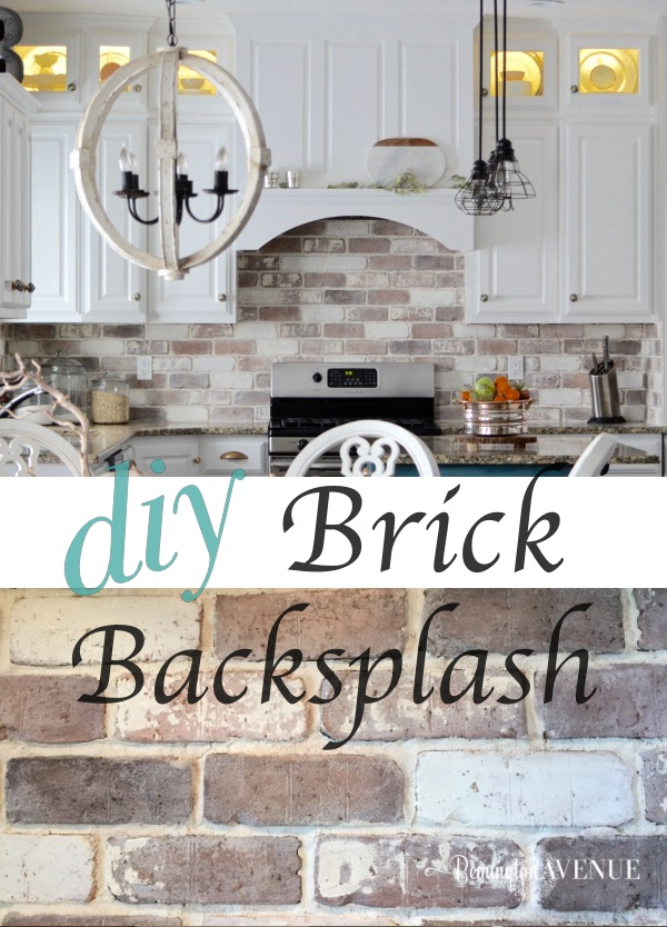Diy Brick Veneer Backsplash Tutorial