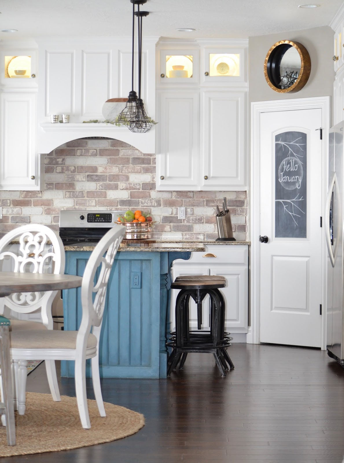 diy brick backsplash tutorial, farmhouse kitchen, brick veneer
