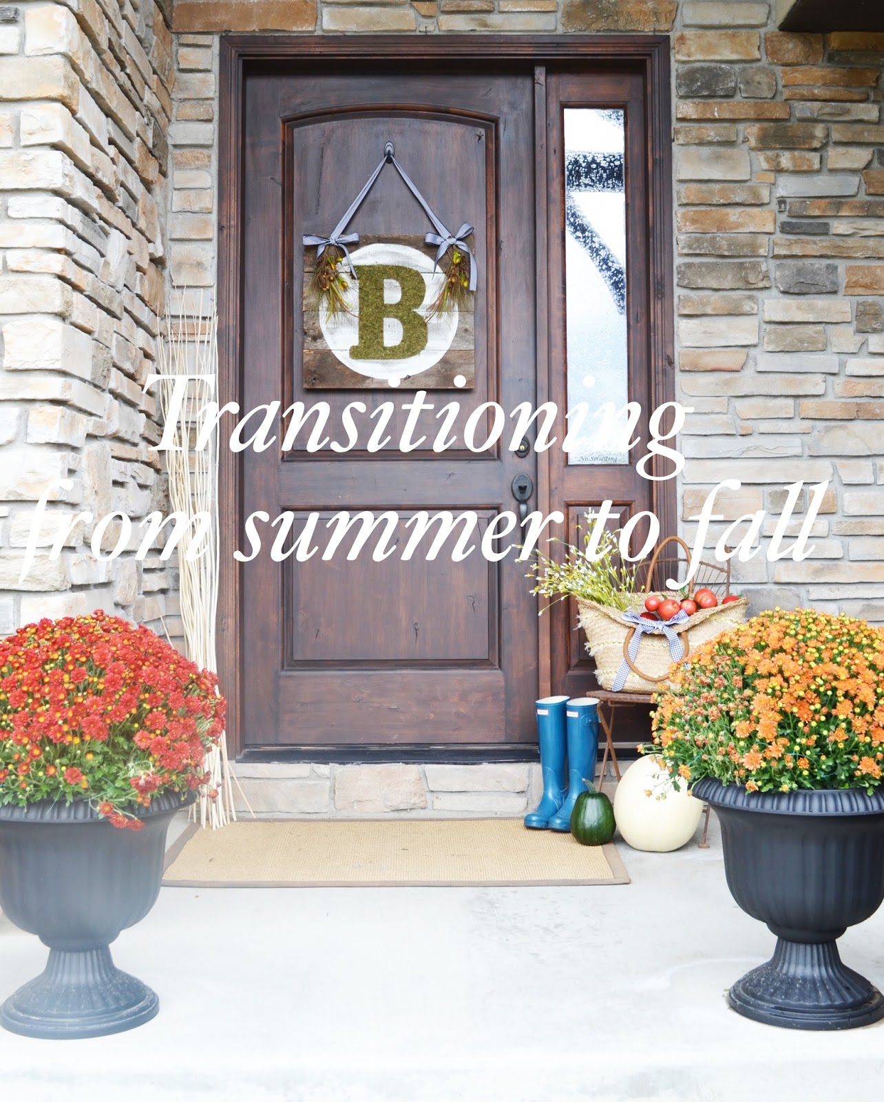 Transitioning your home from summer to fall