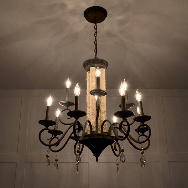 Thrifted Chandelier Transformation