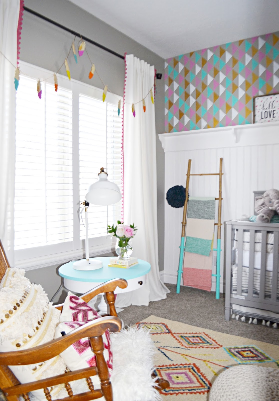 pom pom curtains, pom pom drapes, pompom, feather decor