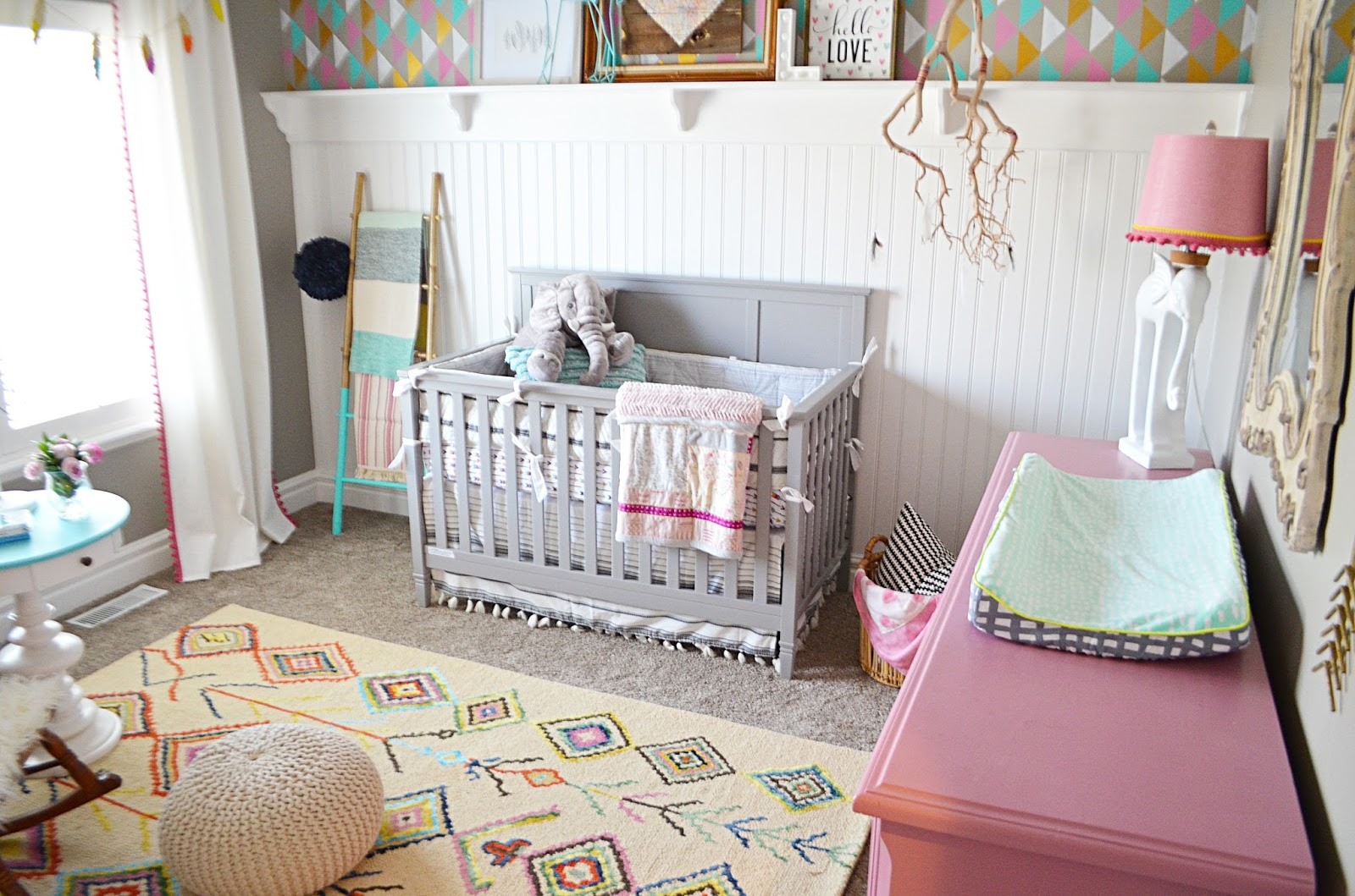 Boho nursery tour remington avenue sherwin williams amipublicfo Images