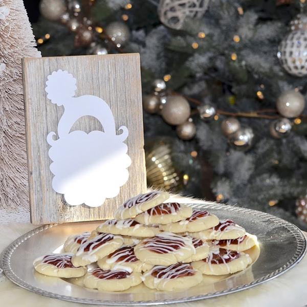 White Chocolate Jam Drop Cookies