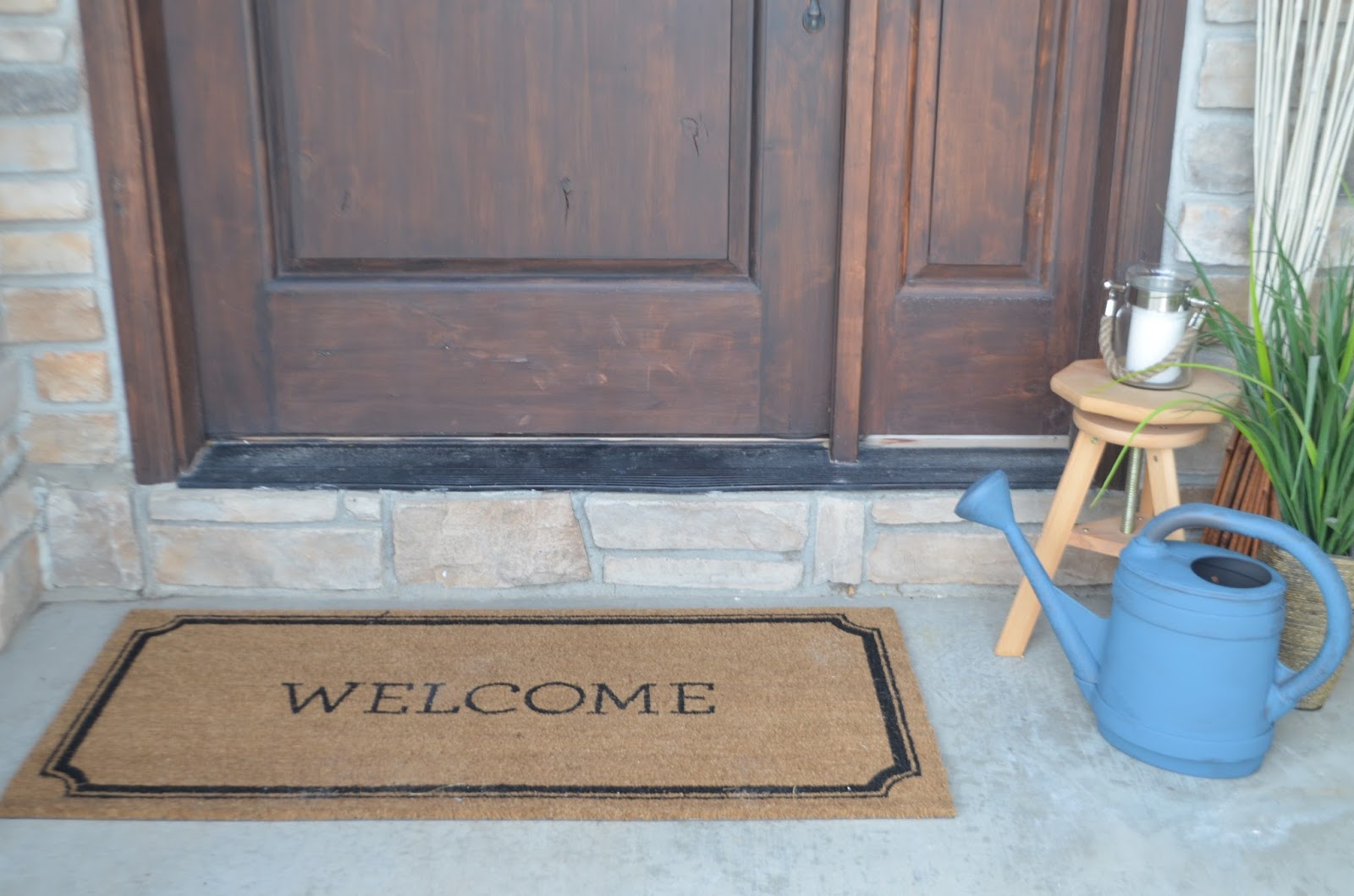 upcycle, patio, patio furniture, outdoor decor, door mat