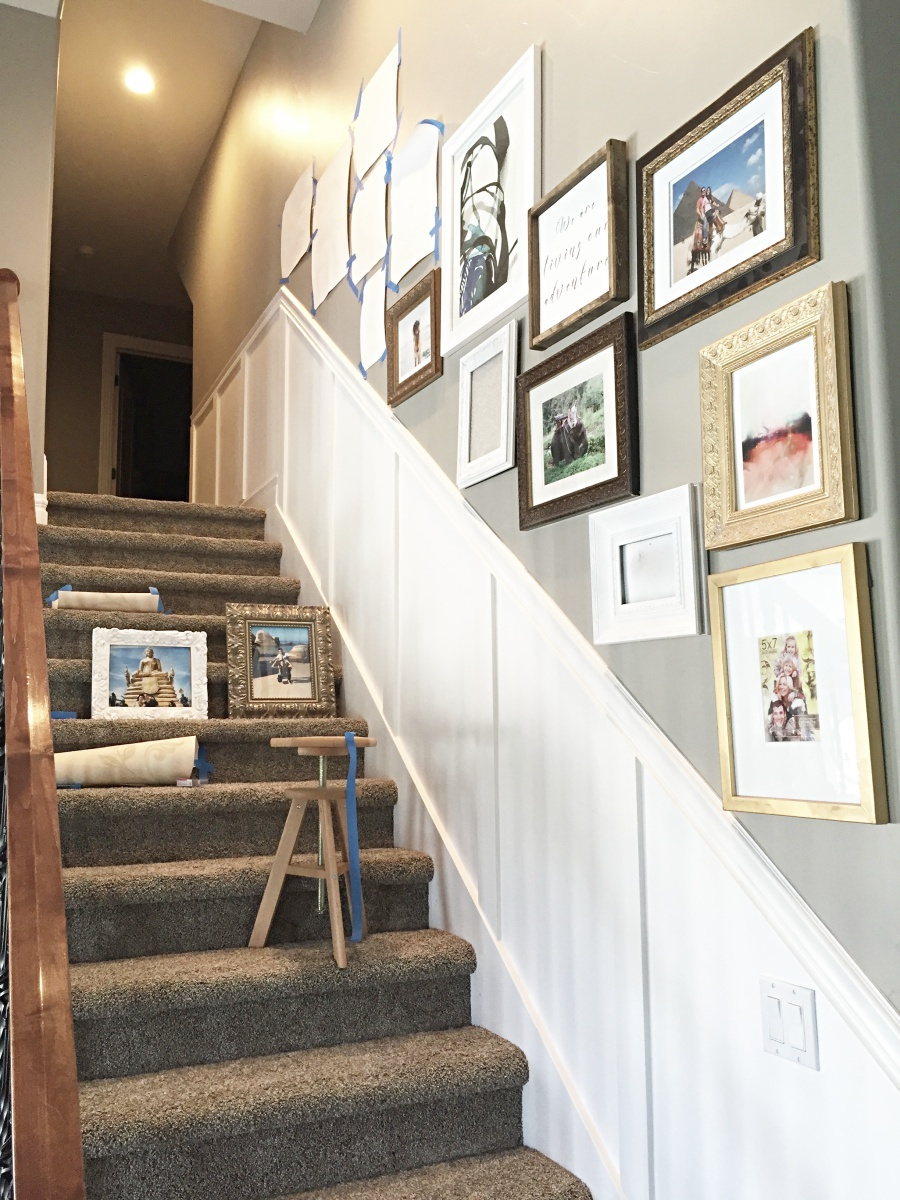 hanging a staircase gallery