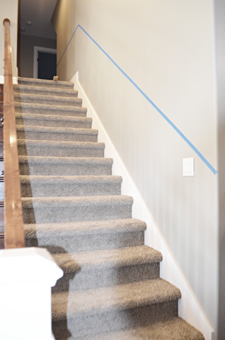 staircase chair railing line