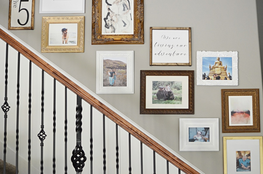 staircase gallery wall 2