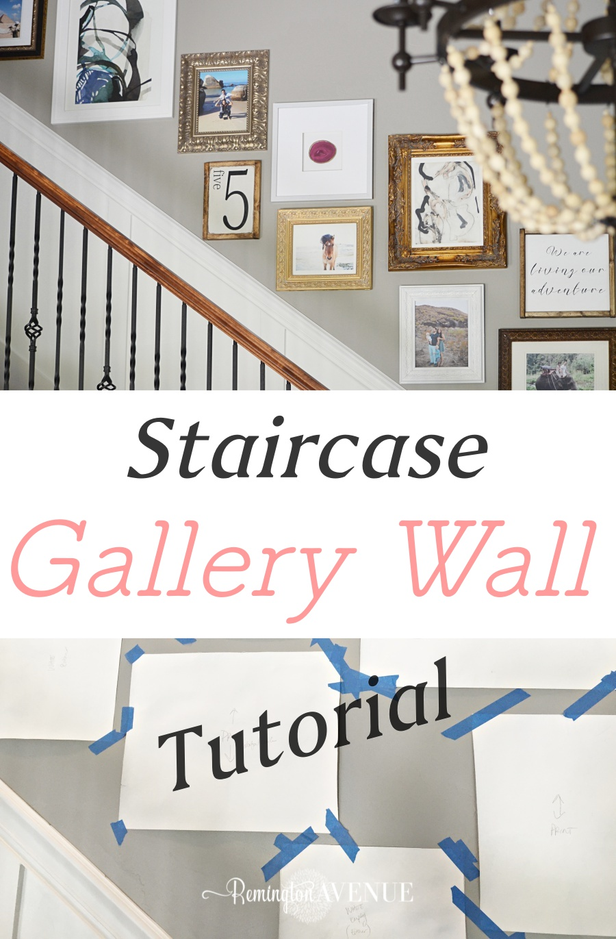 Staircase Gallery Wall Tutorial Remington Avenue
