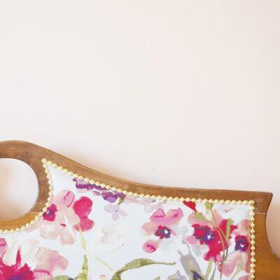 upholstered vintage Headboard tutorial