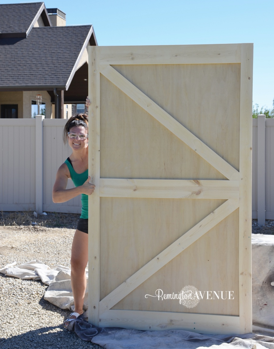 50-diy-british-brace-barn-door-35 & $50 DIY British Brace Barn Door - Remington Avenue