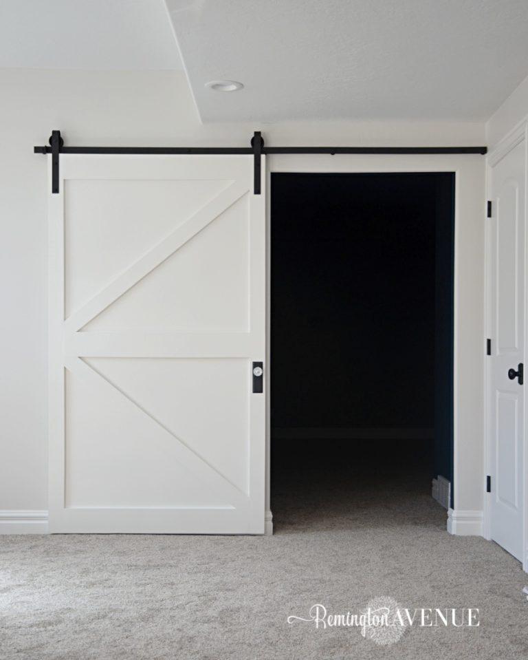 $50 DIY British Brace Barn Door