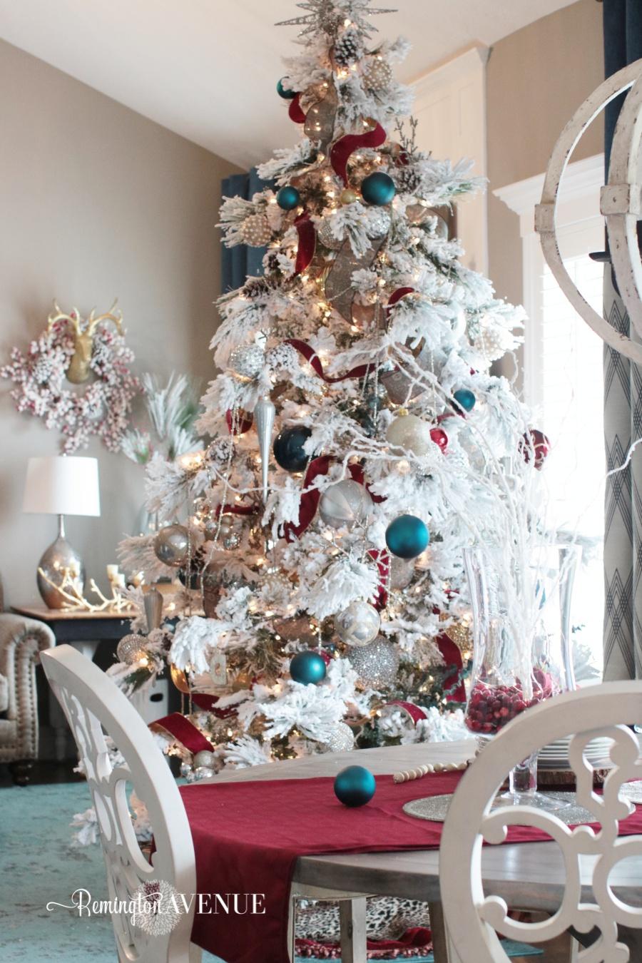 colorful christmas home tour 112 - Colorful Christmas Trees