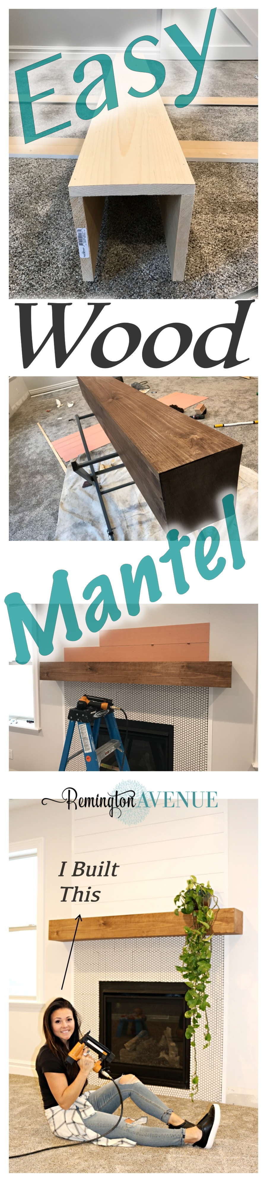 Easy diy wood mantel remington avenue where i share spaces in my home and diy projects daily if you liked this tutorial please pin the image below and help me share it with more friends solutioingenieria Image collections