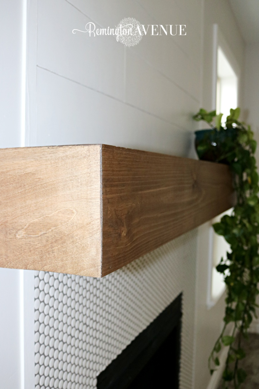 how to build a wood mantel shelf