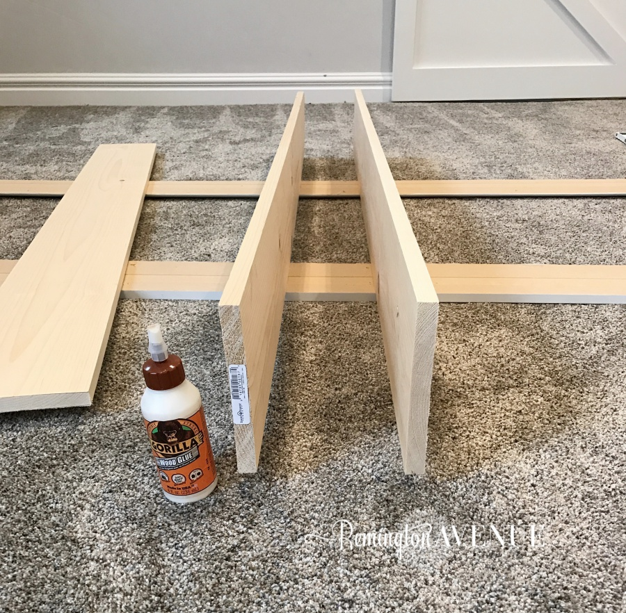 Using Wood Glue And My Nail Gun I Secured The Boards Together