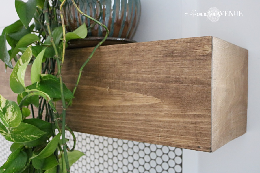 Easy Diy Wood Mantel Remington Avenue, How To Mount A Floating Fireplace Mantel