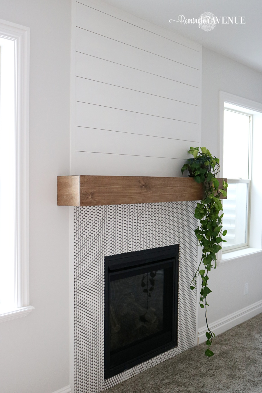 Easy diy wood mantel remington avenue it was actually way easier then i imagined it came in just under 35 solutioingenieria Images