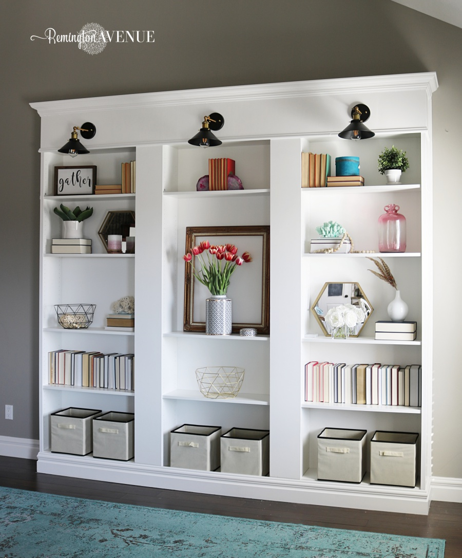 Diy Shelves Billy Bookcase Hack Ikea Custom Shelving Library Wall