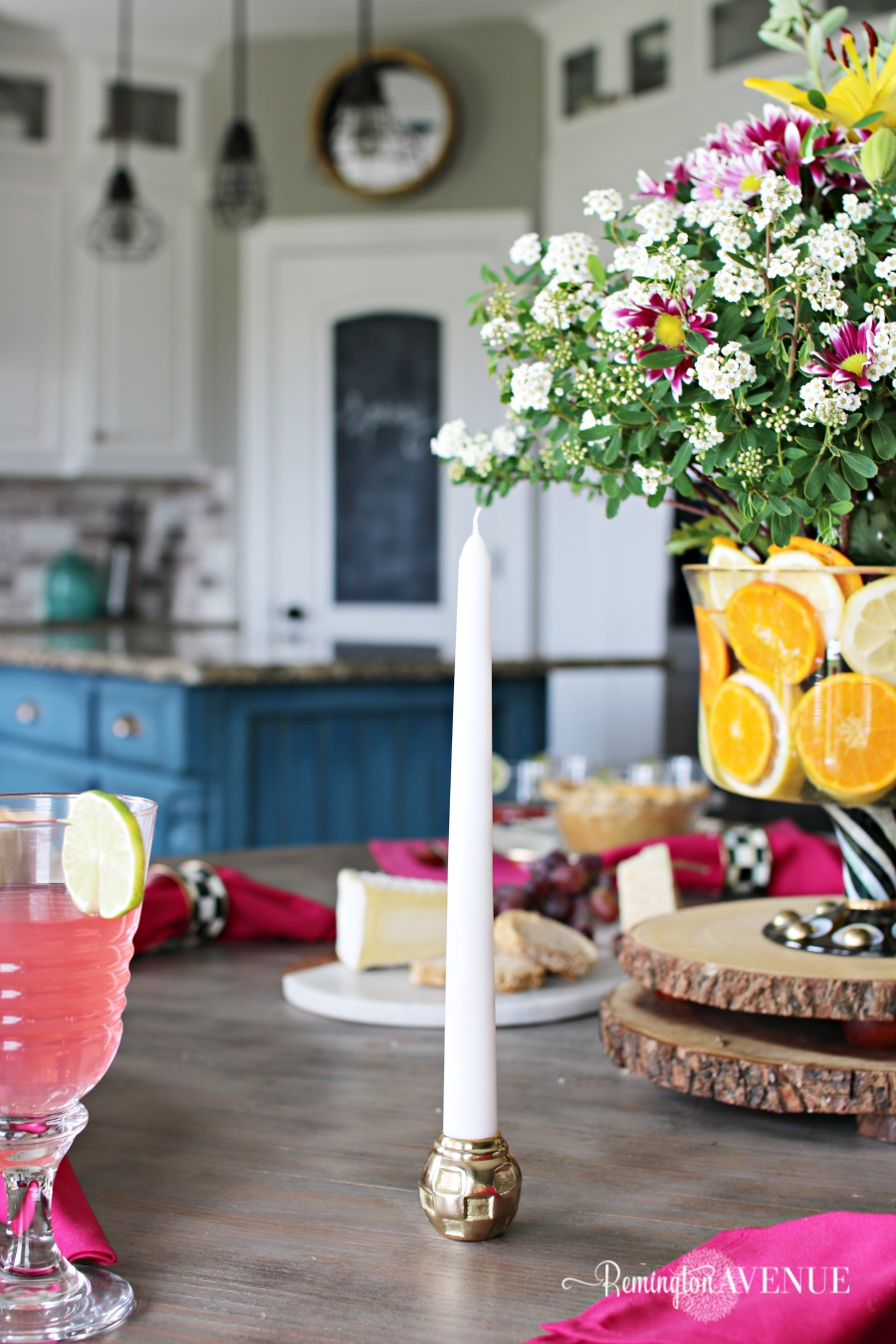 Floral and Citrus Summer Brunch Table, vanilla cake recipe, summer table ideas